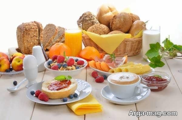 مدل تزیین صبحانه