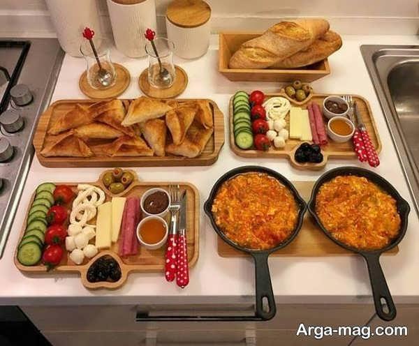تزیینات صبحانه کامل