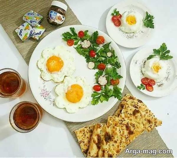 تزیینات صبحانه ساده