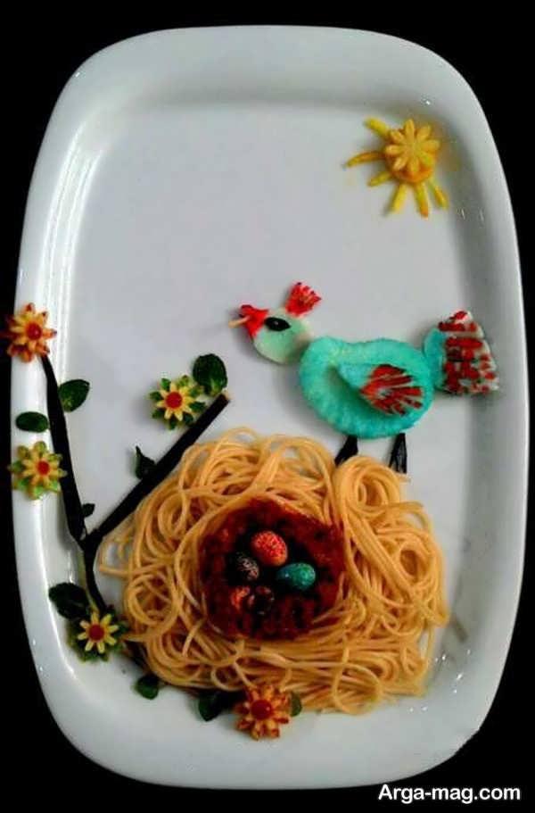 تزیین پاستا برای بچه ها