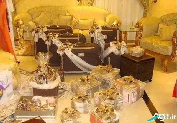 تزیین چمدان های عروس و داماد