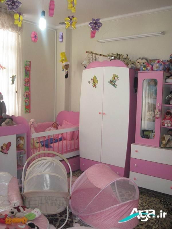 تزیین سرویس چوب نوزادان دختر و پسر