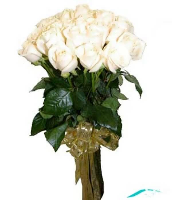 تزیین گل رز سفید