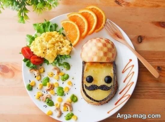 تزیین غذای کودک با چند ایده با مزه
