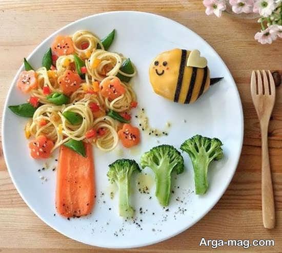 جدیدترین تزئینات غذای کودکان