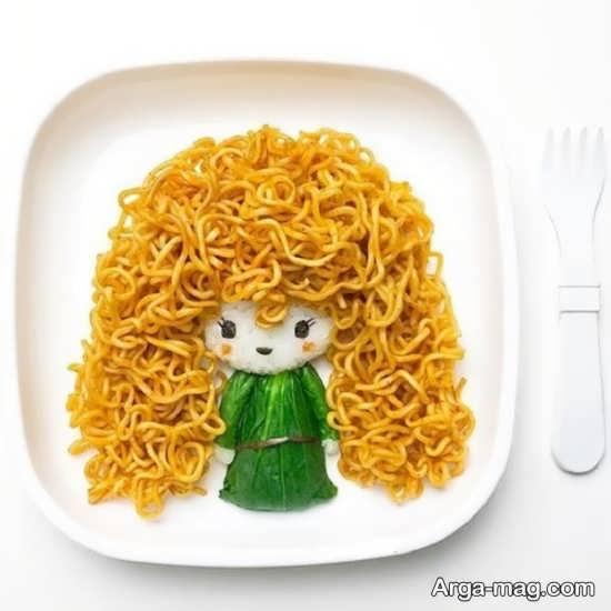تزیین غذای کودک با ایده های جالب