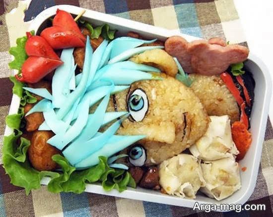 تزئین غذا برای پسر بچه ها