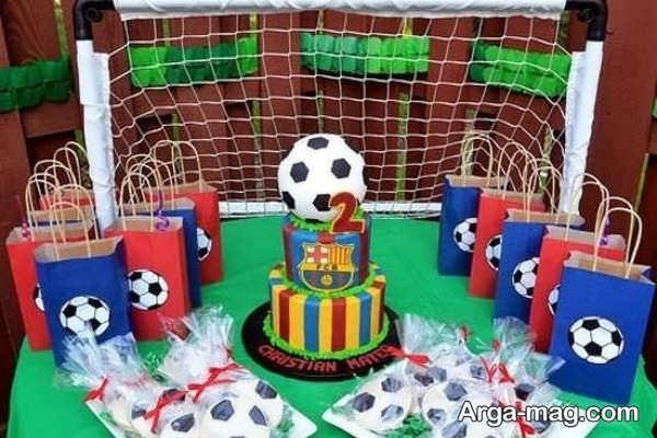 تم تولد پسرانه فوتبالی زیبا