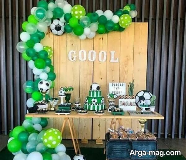 مدل به روز تم تولد فوتبالی برای پسران