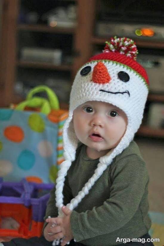 کلاه بافت زیبای پسرانه