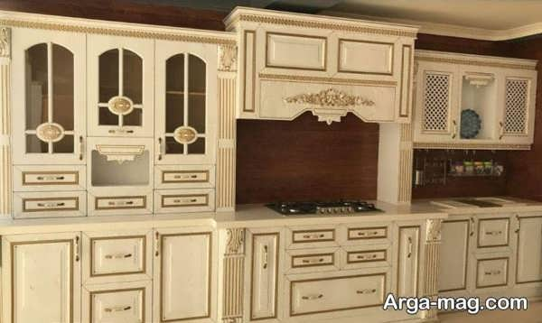 کابینت کلاسیک با طراحی جدید