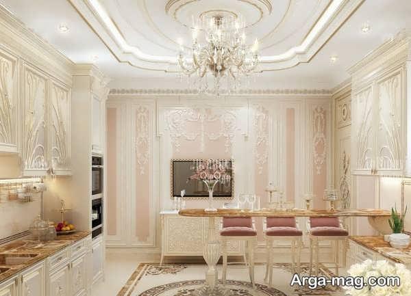 کابینت کلاسیک با طراحی زیبا