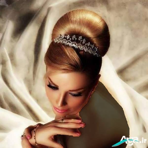 مدل شینیون بسته موی عروس