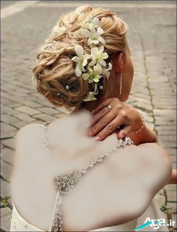 شینیون بسیار زیبا عروس