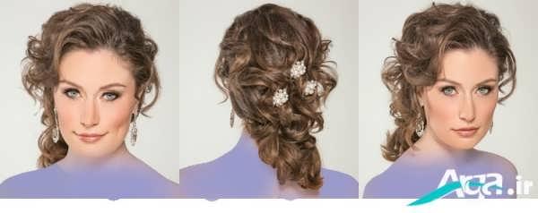 آرایش موی عروس با وسایل تزیینی
