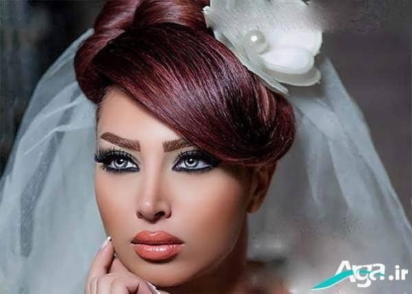 مدل آرایش موی عروس شیک و جذاب