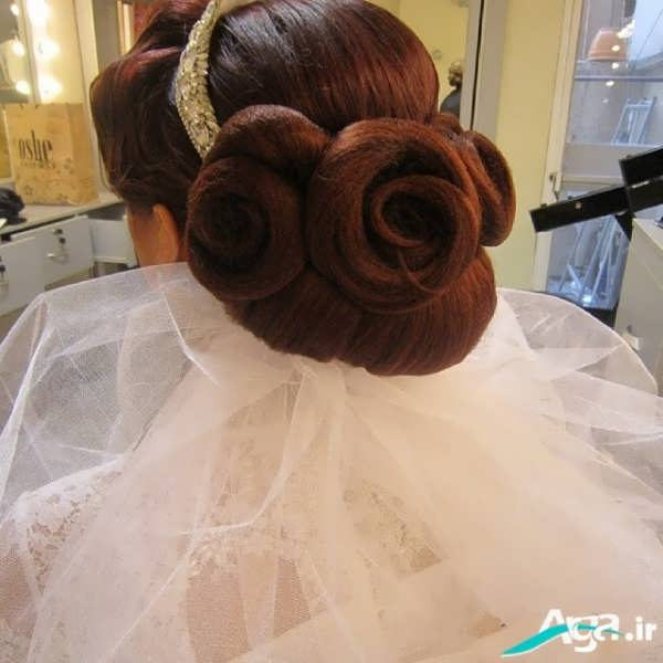مدل ساده و بسته شینیون عروس