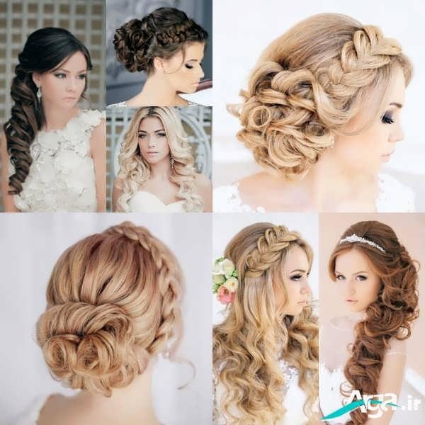 شینیون موی عروس همراه با بافت تزیینی