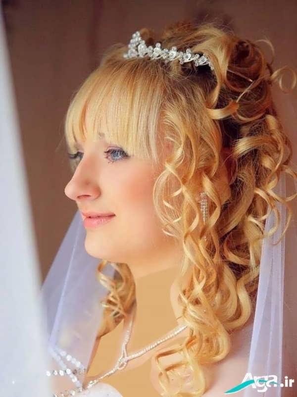 آرایش موی عروس به شکل چتری