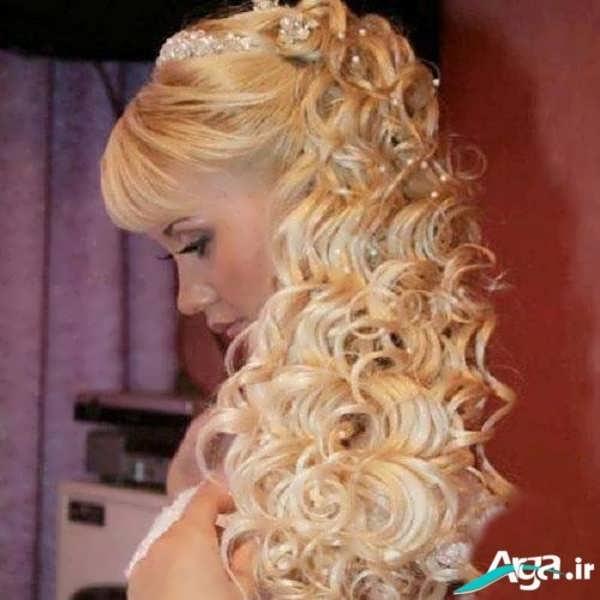 شینیون موی فر رنگ روشن