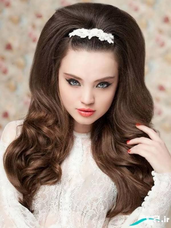مدل های آرایش مو با وسایل تزیینی