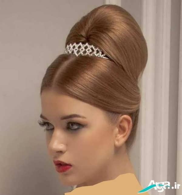 شینیون موی بلند عروس
