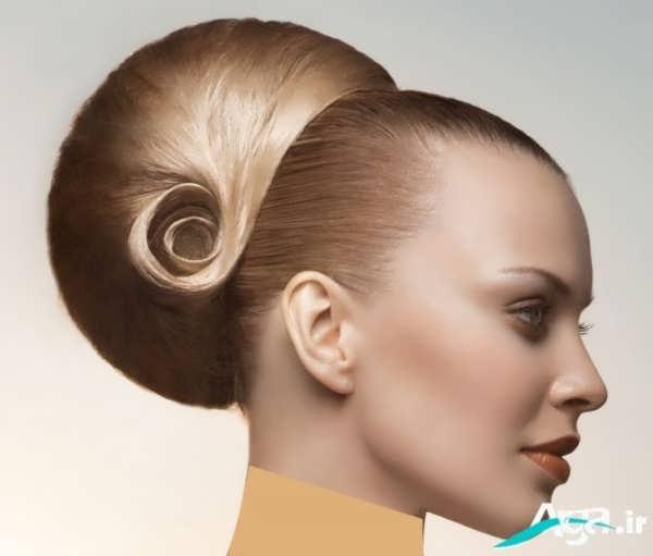 شینیون جدید برای موهای بلند و رنگ روشن