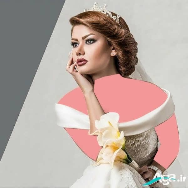 شینیون بسیار زیبا و جذاب کلاسیک موی عروس