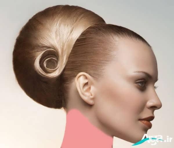 مدل شینیون موی کلاسیک