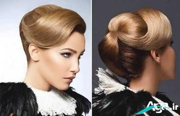 شینیون کلاسیک موی دخترانه