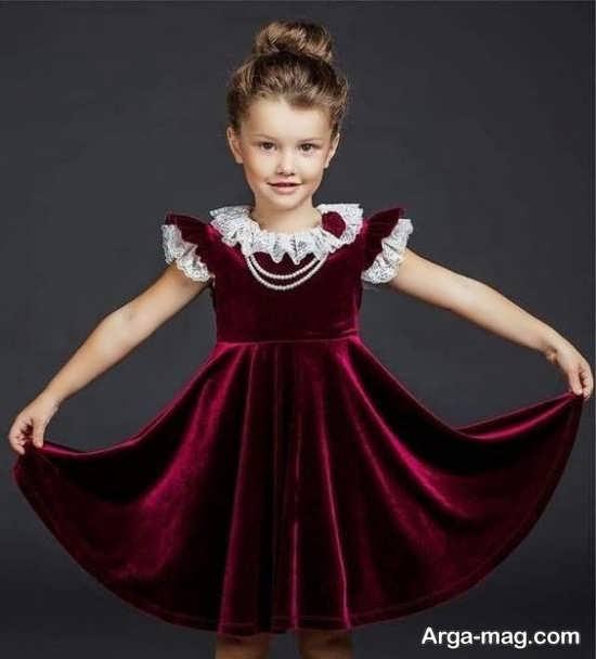 مدل لباس مخمل بچه گانه جدید