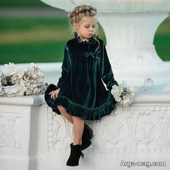 مدل های لاکچری لباس مخمل بچه گانه