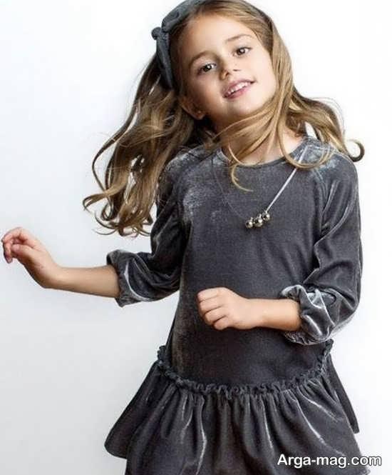 مدل لباس مخمل بچه گانه ایده آل