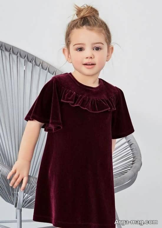 مدل لباس مخمل بچه گانه جذاب
