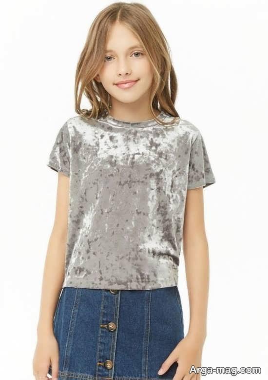 مدل لباس مخمل بچه گانه کوتاه