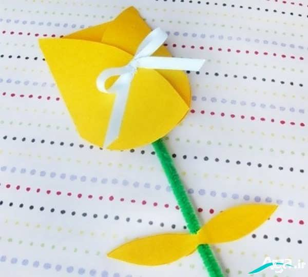 کاردستی جدید گل لاله برای کودکان