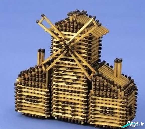 کاردستی با چوب کبریت برای کودکان