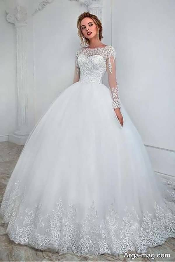 پیراهن عروس دکلته زیبا