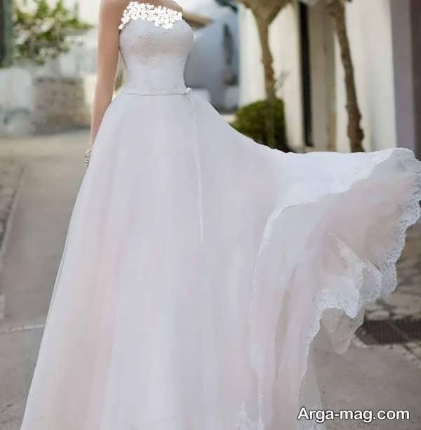 پیراهن عروس دکلته جذاب