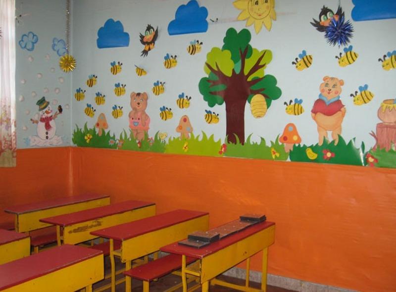 تصویر گل نقاشی کودک طرح های تزیین کلاس پیش دبستانی زیبا و دوست داشتنی