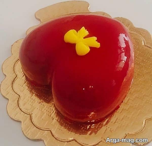 تزیینات جدید کیک قلبی شکل با ژله