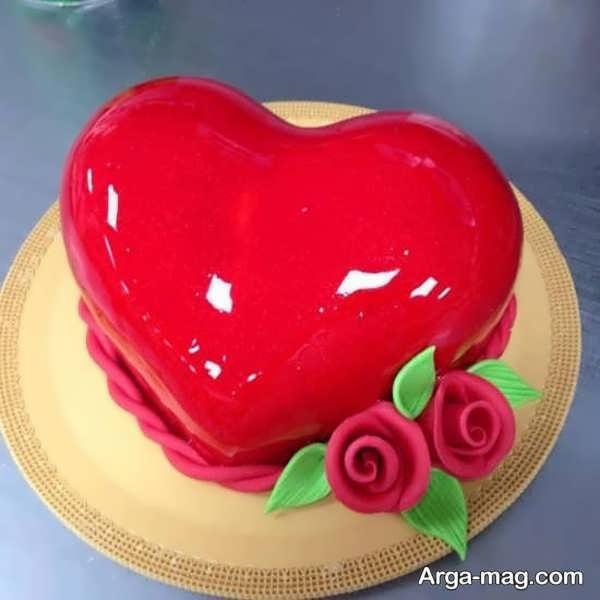 مدل های شیک از تزیینات کیک قلبی شکل با ژله
