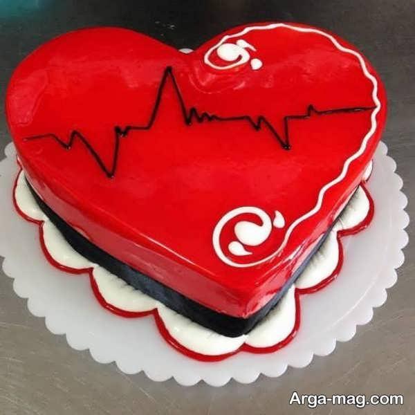 مدل های هنرمندانه از تزیینات کیک قلبی شکل با ژله