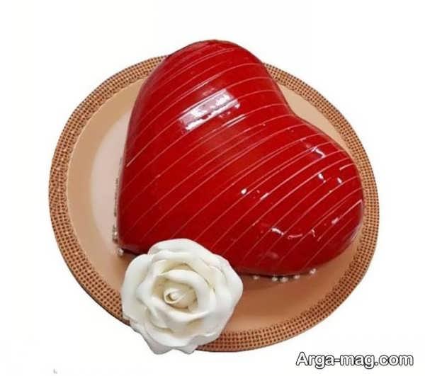 مدل های دیدنی از تزیینات کیک قلبی شکل با ژله