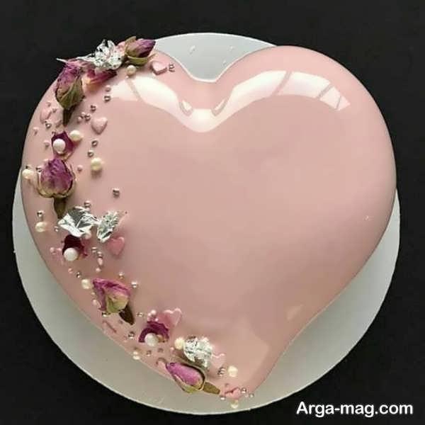 دیزاین زیبای کیک قلبی شکل با ژله