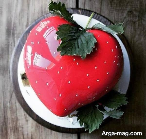 تزیینات متفاوت کیک قلبی شکل با ژله