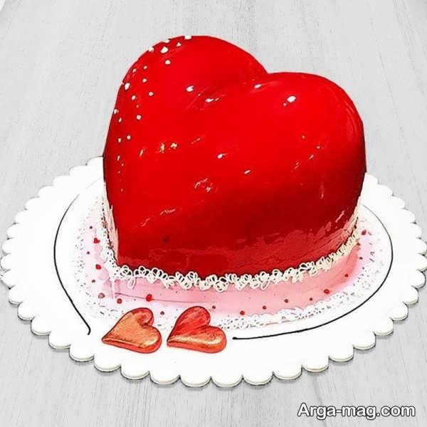 تزیین کیک با ژله به شکل قلب