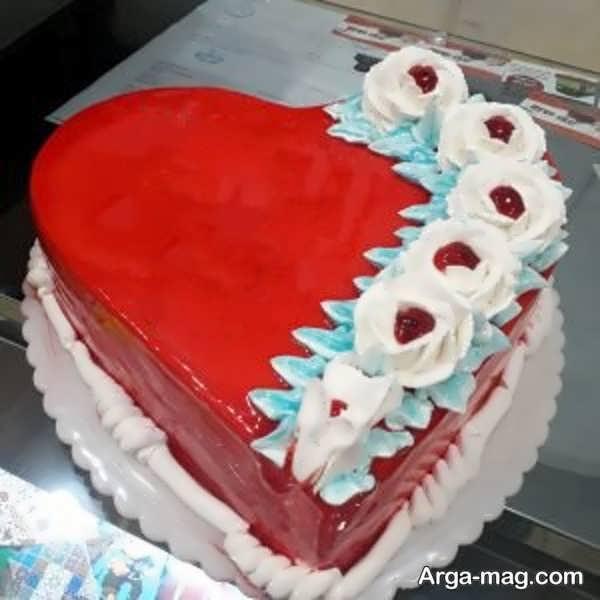 تزیینات خاص کیک قلبی شکل با ژله