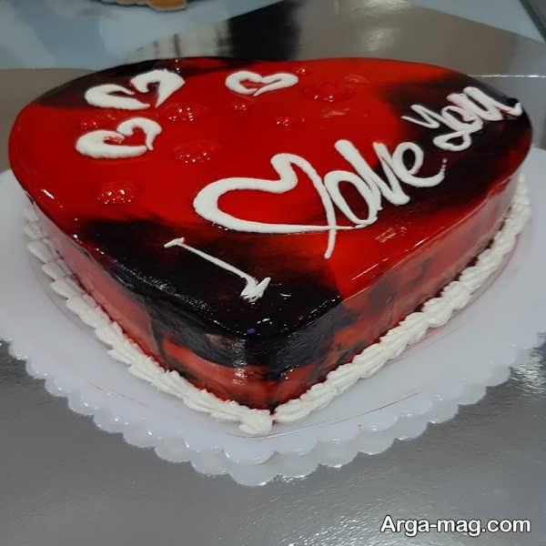 تزیینات ایده آل کیک قلبی شکل با ژله