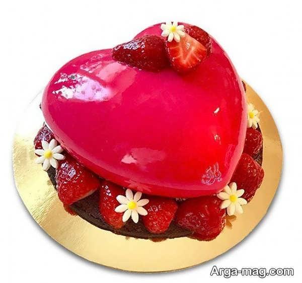 تزیینات خلاقانه کیک قلبی شکل با ژله